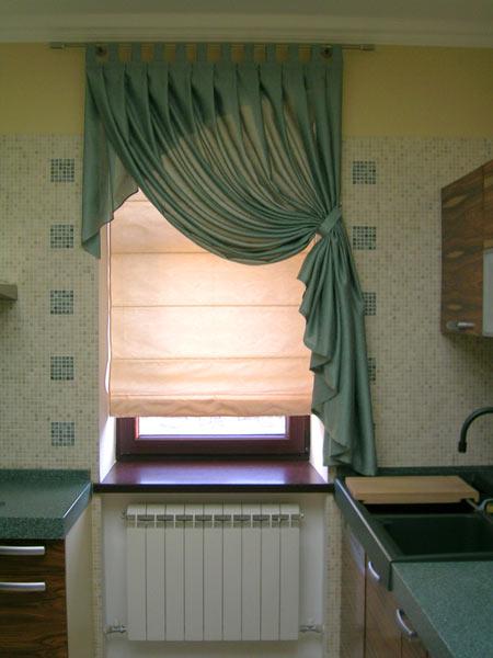 кухонные варианты штор